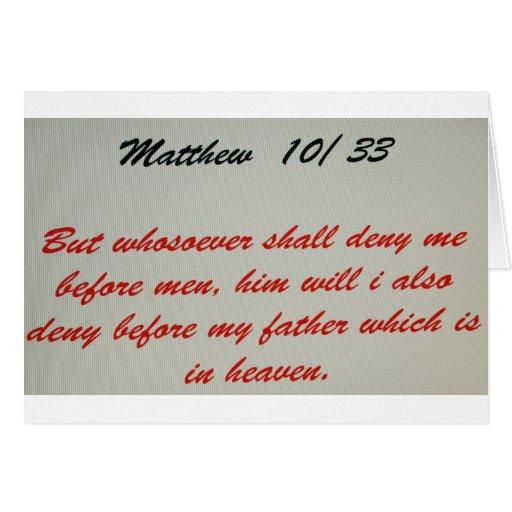 Verso de la biblia tarjeta de felicitación