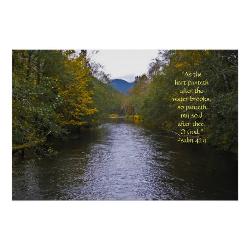 Verso de la impresión w/Scripture del río de