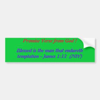 ¡Verso de la promesa de dios! Pegatina para el par Pegatina Para Auto
