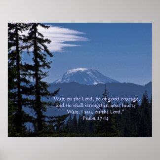 Verso del Mt Adams 2 w Scripture Impresiones