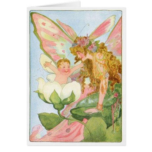 Verso dulce en las hadas incluidas en tarjeta