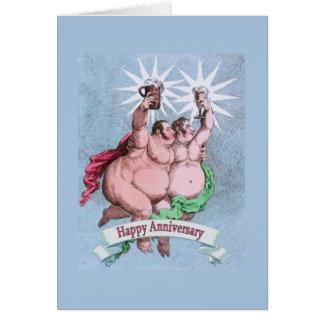 Verso feliz gay del suplente del aniversario tarjeta de felicitación