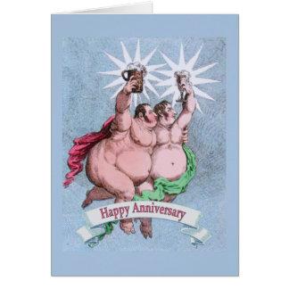 Verso feliz gay del suplente del aniversario tarjeta pequeña