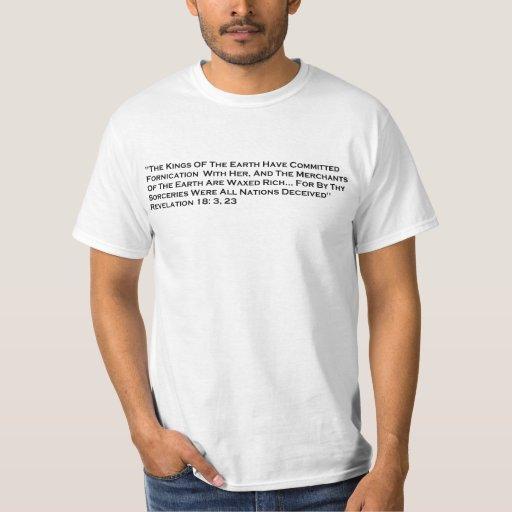 Verso futuro de la revelación del temblor/camisa poleras