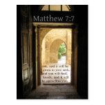 Verso hermoso de la biblia del 7:7 de Matthew Postal