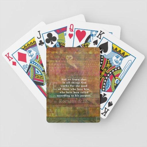 Verso inspirado de la biblia baraja cartas de poker