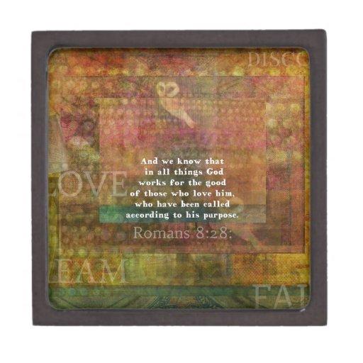 Verso inspirado de la biblia caja de joyas de calidad