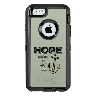 Verso inspirado de la biblia de la esperanza funda OtterBox defender para iPhone 6