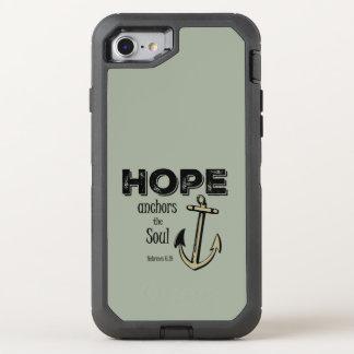 Verso inspirado de la biblia de la esperanza funda OtterBox defender para iPhone 7