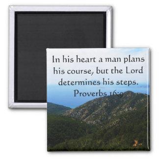 Verso inspirado de la biblia del 16:9 de los prove imán cuadrado