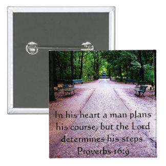 Verso inspirado de la biblia del 16:9 de los prove pin cuadrado