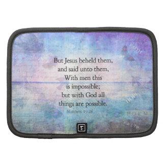 Verso inspirado de la biblia del 19 26 de Matthew Planificadores