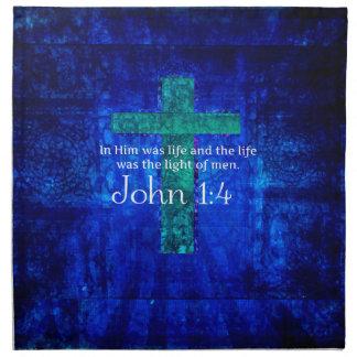 Verso inspirado de la biblia del 1:4 de Juan Servilletas De Papel