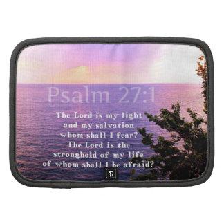 VERSO INSPIRADO de la BIBLIA del 27 1 del salmo Organizadores