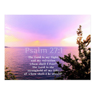 VERSO INSPIRADO de la BIBLIA del 27:1 del salmo Postales