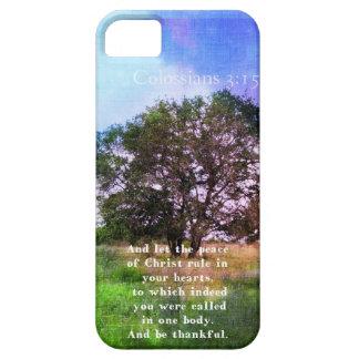 Verso inspirado de la biblia del 3 15 de Colossian iPhone 5 Case-Mate Carcasas