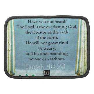 Verso inspirado de la BIBLIA del 40 28 de Isaías Planificadores