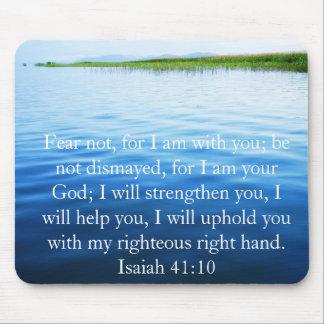 Verso inspirado de la biblia del 41:10 de Isaías Alfombrilla De Ratones