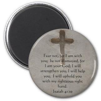 Verso inspirado de la biblia del 41:10 de Isaías Imán Redondo 5 Cm