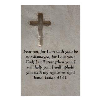 Verso inspirado de la biblia del 41:10 de Isaías Papelería De Diseño