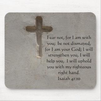 Verso inspirado de la biblia del 41:10 de Isaías Alfombrillas De Raton