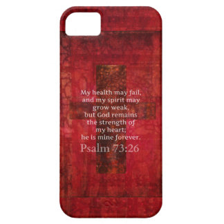 Verso inspirado de la BIBLIA del 73:26 del salmo iPhone 5 Protectores