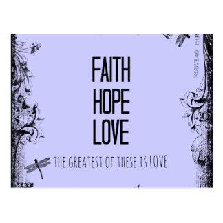 Verso inspirado de la biblia del amor de la postales