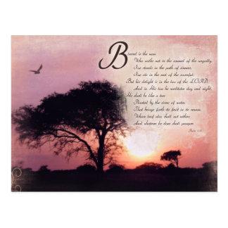 Verso inspirado de la biblia del estímulo de los tarjetas postales