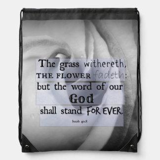Verso inspirado de la biblia: La palabra de dios Mochilas