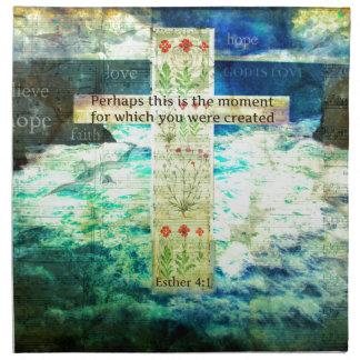 Verso inspirado de la biblia que eleva sobre vida servilletas imprimidas