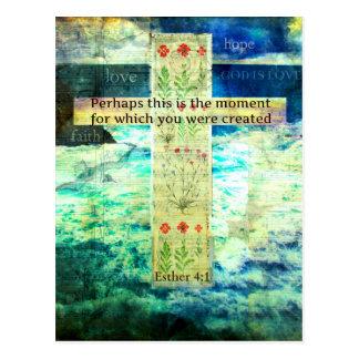 Verso inspirado de la biblia que eleva sobre vida postales