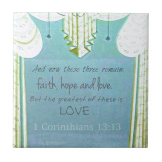 Verso inspirado de la biblia sobre amor 1 Corinth Tejas Ceramicas
