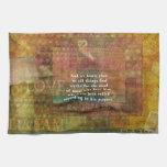 Verso inspirado de la biblia toallas