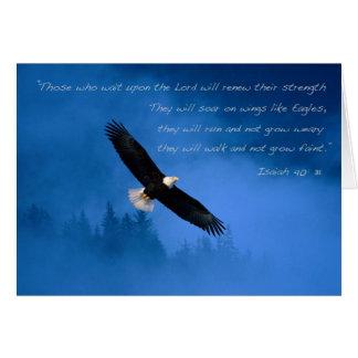 Verso inspirado Isaías de la biblia Felicitacion