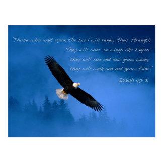 Verso inspirado Isaías de la biblia Postales