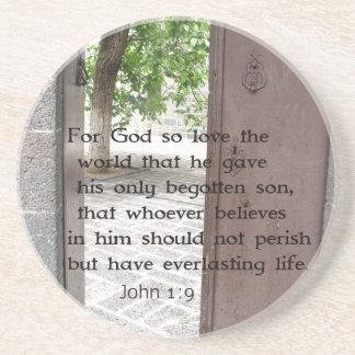 Verso inspirado y que eleva del 1:9 de Juan de la  Posavasos Manualidades