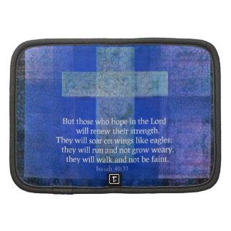 Verso Isaías 40 de la biblia - cristiano de 31 co Organizadores