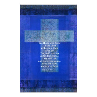 Verso Isaías 40 de la biblia: - cristiano de 31 co Papelería