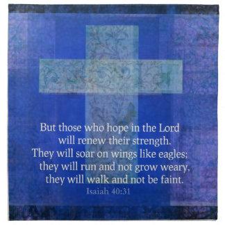 Verso Isaías 40 de la biblia: - cristiano de 31 co Servilletas De Papel