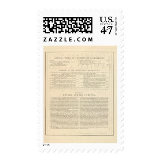 Verso Johnson's New Illustrated Family Atlas Postage