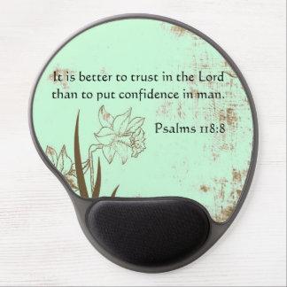 Verso medio de la confianza de la Sagrada Biblia e Alfombrillas De Raton Con Gel