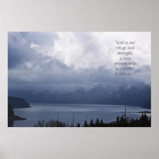 Verso metálico de la impresión w/Scripture del lag Poster