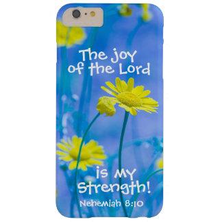 Verso Nehemiah de la biblia la alegría del señor Funda De iPhone 6 Plus Barely There
