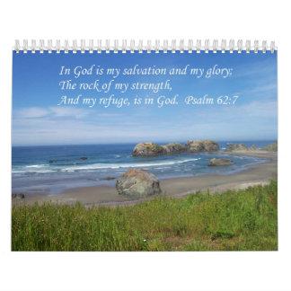 Verso OceanCalendar del 62:7 del salmo inspirado Calendarios
