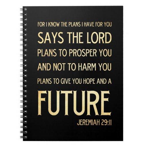 Verso Scriptural cristiano de la biblia - 29:11 de Cuadernos
