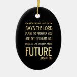 Verso Scriptural cristiano de la biblia - 29:11 de Adorno De Navidad