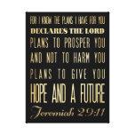 Verso Scriptural cristiano de la biblia - 29:11 de Impresión En Lona Estirada