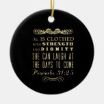 Verso Scriptural cristiano de la biblia - 31:25 de Ornamento Para Arbol De Navidad