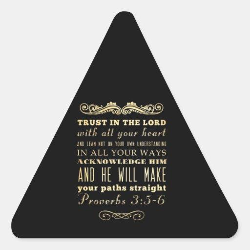 Verso Scriptural cristiano de la biblia - 3:5 de Colcomanias De Triangulo Personalizadas