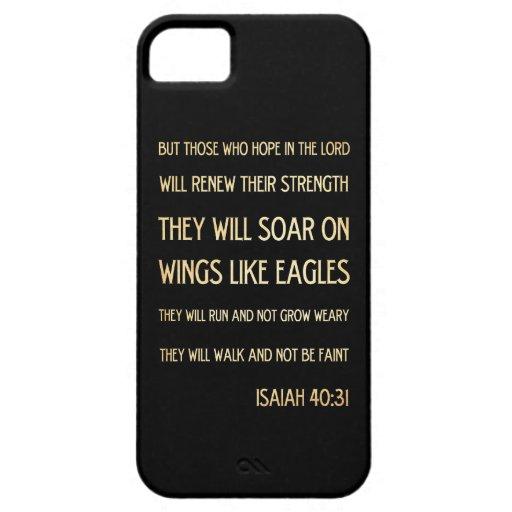 Verso Scriptural cristiano de la biblia - 40:31 de iPhone 5 Coberturas